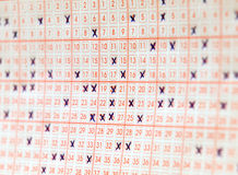Bilhete da lotaria imagens de stock