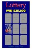 Bilhete da lotaria ilustração do vetor