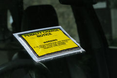 Bilhete de estacionamento fotos de stock royalty free