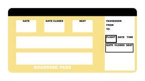 Bilhete de linha aérea ilustração do vetor