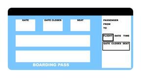 Bilhete de linha aérea Fotografia de Stock