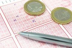 Bilhete de lotaria de vencimento Fotografia de Stock Royalty Free