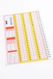 Bilhete de lotaria em branco Imagem de Stock Royalty Free