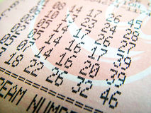 Bilhete de lotaria nacional Imagem de Stock Royalty Free