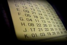 Bilhete de lotaria de vencimento Fotografia de Stock