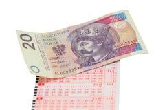 Bilhete de loteria Fotografia de Stock Royalty Free