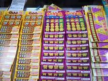 Bilhete de loteria vendido no pa?s de Jinmen, Taiwan fotos de stock royalty free