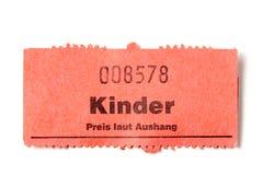 Bilhete de papel alemão Fotografia de Stock Royalty Free