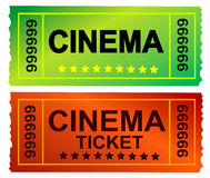 Bilhete do cinema Foto de Stock