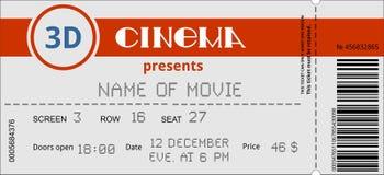 Bilhete do cinema Imagens de Stock
