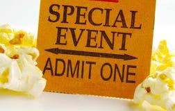 Bilhete do evento Fotografia de Stock