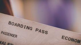 Bilhete do voo da passagem de embarque da economia fotografia de stock royalty free