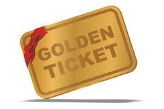Bilhete dourado Fotografia de Stock Royalty Free