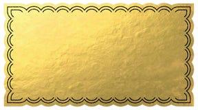 Bilhete dourado Imagem de Stock