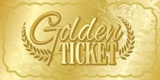Bilhete dourado ilustração do vetor