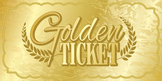 Bilhete dourado Fotografia de Stock