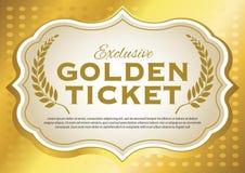Bilhete dourado Imagem de Stock Royalty Free