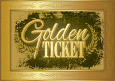 Bilhete dourado Imagens de Stock Royalty Free