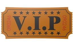Bilhete isolado com palavra do VIP Imagens de Stock