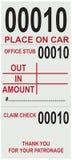 Bilhete para licenças de estacionamento Fotografia de Stock