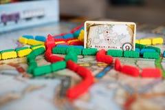 Bilhete para montar o jogo de mesa foto de stock royalty free
