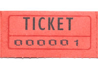 Bilhete vermelho numerado um Imagens de Stock