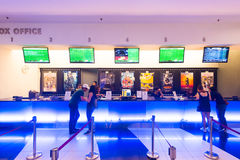 Bilheteira em cinemas dourados da tela, Kuala Lumpur Foto de Stock Royalty Free