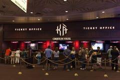 Bilheteira em Las Vegas, nanovolt do KA o 6 de agosto de 2013 fotografia de stock royalty free