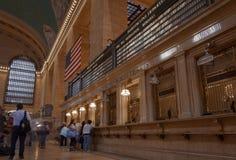 Bilheteiras e exposições da partida no Statin grande de Cantral, New York fotografia de stock