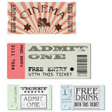 Bilhetes ajustados do vetor ilustração royalty free