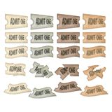Bilhetes com trajeto de grampeamento Foto de Stock Royalty Free