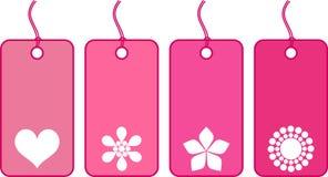 Bilhetes cor-de-rosa Foto de Stock Royalty Free