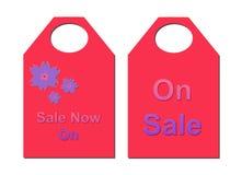 Bilhetes cor-de-rosa da venda Imagens de Stock Royalty Free