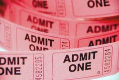 Bilhetes da admissão Fotos de Stock Royalty Free