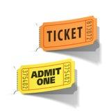 Bilhetes da entrada ilustração do vetor