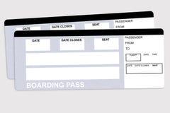 Bilhetes de linha aérea Fotos de Stock