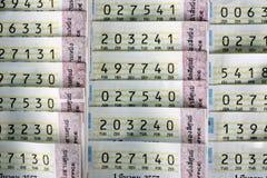 Bilhetes de loteria Imagem de Stock Royalty Free