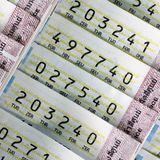 Bilhetes de loteria Fotografia de Stock