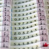 Bilhetes de loteria Imagem de Stock