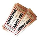 Bilhetes do cinema Fotos de Stock Royalty Free
