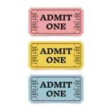 Bilhetes do filme isolados no fundo branco foto de stock royalty free