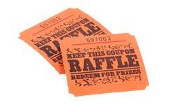 Bilhetes do Raffle fotografia de stock royalty free