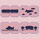 Bilhetes do transporte da ilustração Imagem de Stock Royalty Free