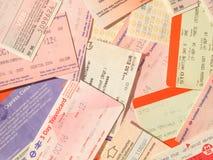 Bilhetes do transporte público Fotografia de Stock