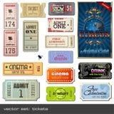 Bilhetes do vetor Fotografia de Stock Royalty Free