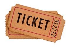 Bilhetes manchados e danificados da admissão Fotos de Stock Royalty Free