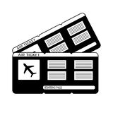 Bilhetes modernos da passagem de embarque dois do curso da linha aérea Vetor ilustração do vetor