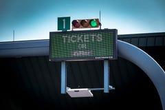 Bilhetes ou sinal de EZPass Fotografia de Stock Royalty Free
