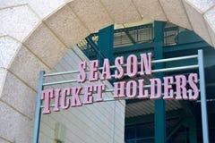 Bilhetes para a temporada para eventos desportivos fotografia de stock royalty free