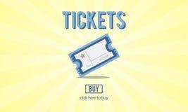 Bilhetes que compram o conceito do entretenimento do evento do pagamento Imagens de Stock